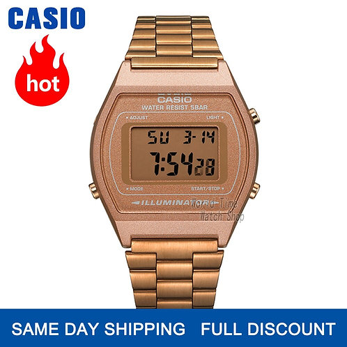 Casio Watch Rose Gold Watch Men Set Brand Luxury LED Digital Quartz Men
