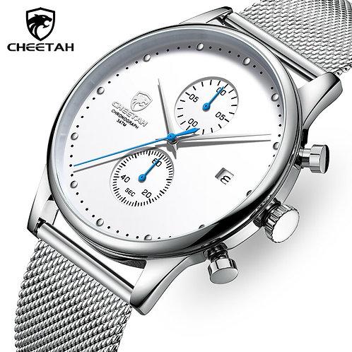 New CHEETAH Fashion Luxury Quartz Watch for Men Chronograph Sport Watch