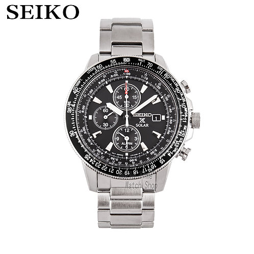 Seiko Watch Men Top Luxury Brand Waterproof Sport Wrist Watch Solar Watch Chrono