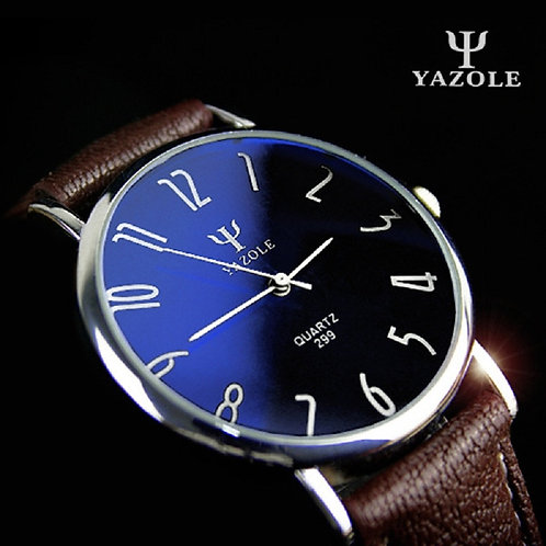 Yazole Quartz Watch Men Casual Business Leather Strap Watches Classic