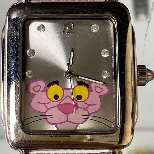 Ladies Collectors Diamond Dial Pink Panther Quartz Wristwatch