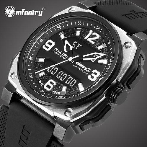 INFANTRY Mens Watches Top Brand Luxury Waterproof 100m Analog Digital Military