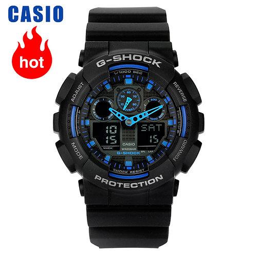 Casio Watch G-Shock Series Multifunctional Sports Men's Watch GA-100-1A2