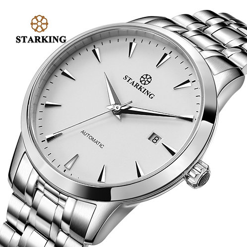 STARKING Mens Clock Automatic Mechanical Watch All Stainless Steel Simple