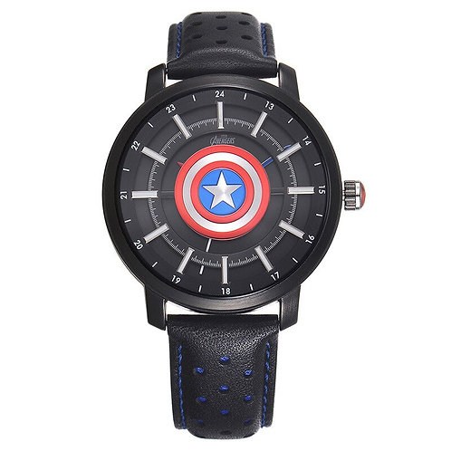 Disney Kids Quartz Wristwatch Marvel Cartoon Boys Watches Captain