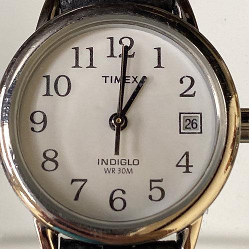 Ladies Classic Timex Indiglo With Date Quartz Wristwatch