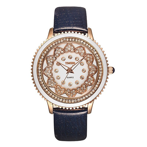 Fashion TIME100 Women's Unique Sunflower Round Shell Dial #W50278