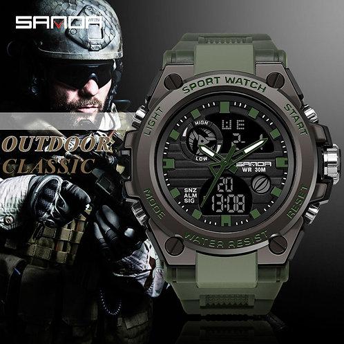 SANDA Brand G Style Men Digital Watch Shock Military Sports Watches Fashion