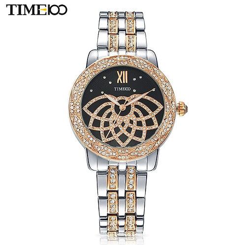 TIME100 Brand Luxury Women Watches Waterproof Alloy Strap Diamond Quartz