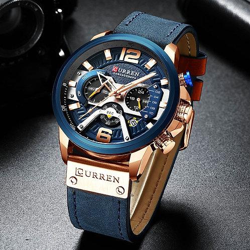 Curren Mens Watches Top Brand Luxury Chronograph Men Watch Leather Luxury