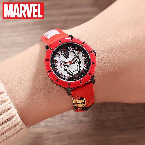 Marvel Avemgers Iron Men Red Boys Quartz Waterproof Watches Child Round Fashion