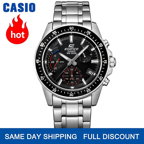 Casio Watch Edifice Watch Men Top Luxury Set Quartz 100m Waterproof Chronograph