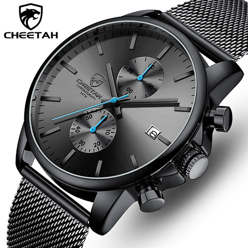 Men Watch CHEETAH Luxury Brand Watches Mens Stainless Steel Quartz Wristwatch