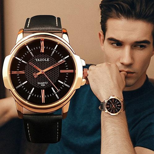 YAZOLE Mens Watches Top Brand Luxury Men Watch Fashion Leather Men's Watch