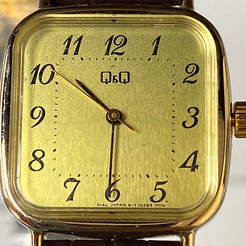 Men's Vintage Bankers Style Mechanical Q&Q Wristwatch