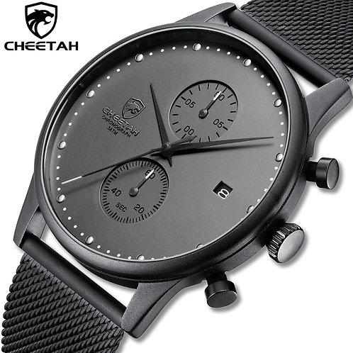 CHEETAH Brand Watch Men Stainless Steel Waterproof Quartz Wristwatch Men's