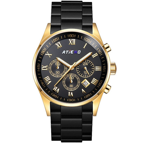 Atieno AT6023G Luxury Men's Quartz Silicone Mens Wristwatch Casual Man