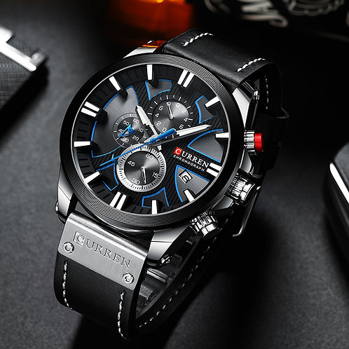 CURREN Big Dial Men's Watch 2019 Chronograph Sport Men Watches Design Creative