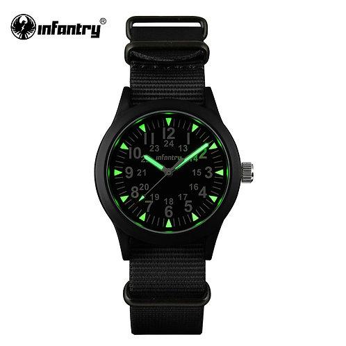 INFANTRY Military Watch Men Luminous Tactical Quartz Mens Watch