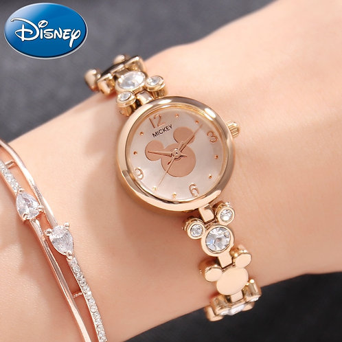 Women Bling Rhinestone Luxury Ladies Gold Silver Steel Bracelet Watches Fashion