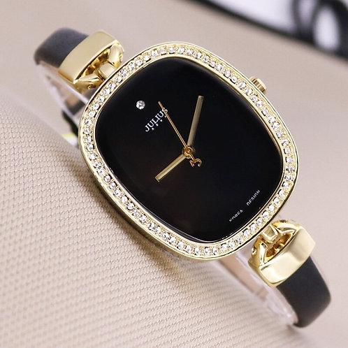 Top Julius Lady Woman Wrist Watch Elegant Simple Fashion Hours Dress