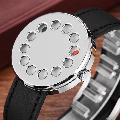 New Unique Creative Watch Men Novelty Turntable Dial Quartz Unisex Watch