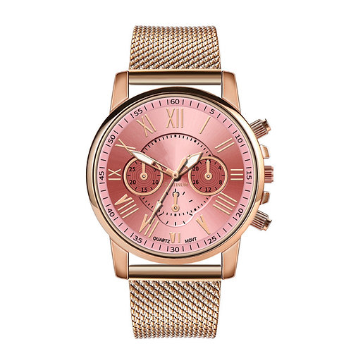 1pc Women Quartz Wrist Watch Luxury Quartz Watch  Fashion Roman