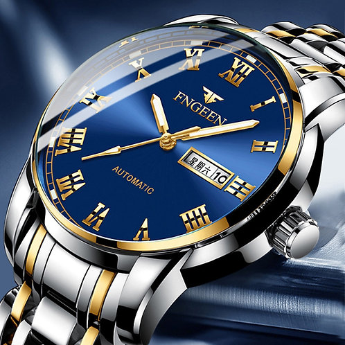 2020 FNGEEN Watches Men Stainless Steel Watch Business Luxury Male Clock Men's