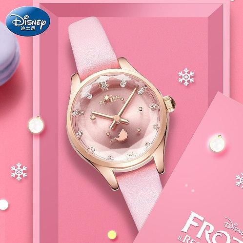 Disney Frozen Quartz Kids Wristwatch Girl's Thin Strap Simple Temperament Watch