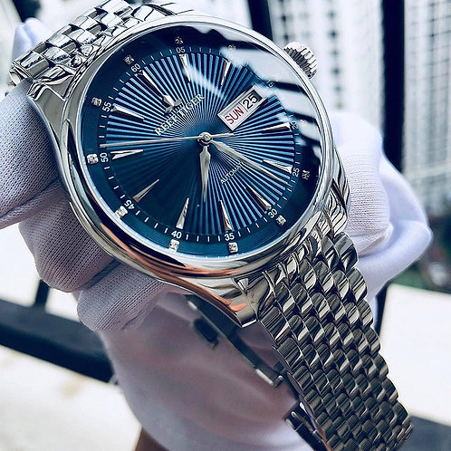 2020 Reef Tiger/Rt Luxury Dress Watch for Men Stainless Steel Bracelet Blue
