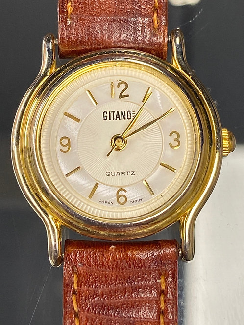Ladies Vintage Bankers Style Gitano Quartz Wristwatch