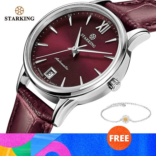 STARKING Watches Women Fashion Watch Stainless Steel Automatic Mechanial