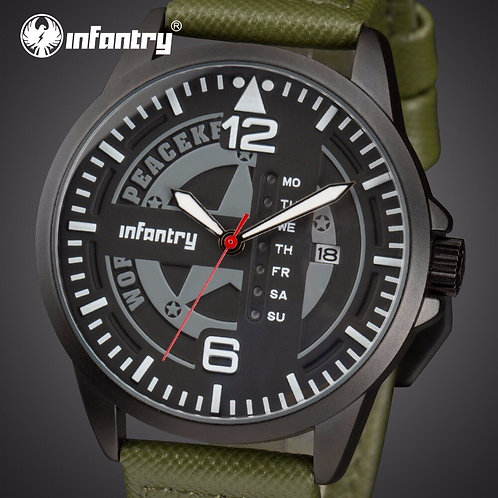 INFANTRY Mens Watches Top Brand Luxury Military Watch Men Luminous Army Tactical