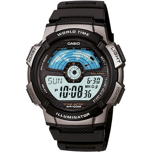 Casio Men's Digital Watch  %100 Original Luxury Set 100 Mt Waterproof