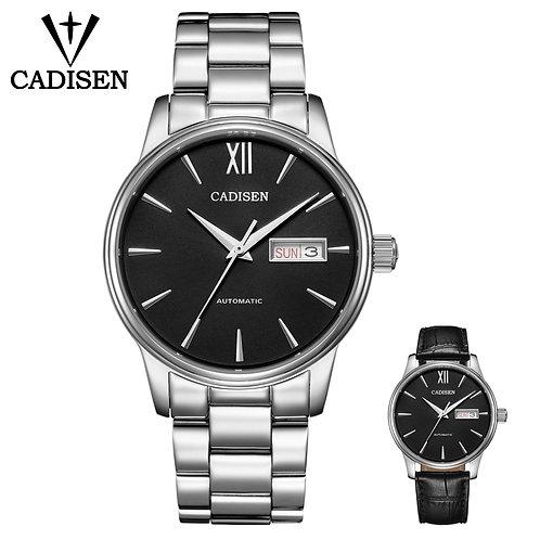 CADISEN Men Watch Set Automatic Mechanical Gift Belt NH36A Machine Core Date