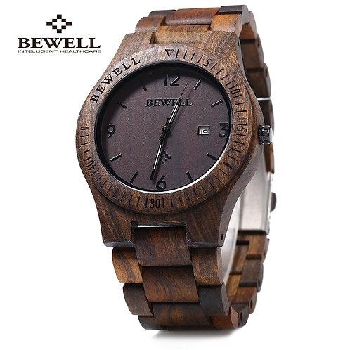Bewell ZS-W086B Luxury Brand Wood Watch Men Analog Quartz Movement