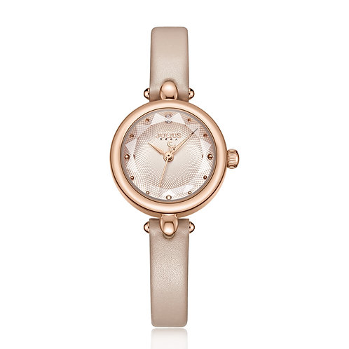Julius Watch Art Leather Watch Band Pearl Watch for Woman High Quality JA-1080