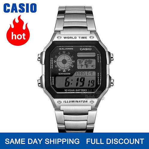 Casio Watch Explosion Watch Men Set Brand Luxury LED Military Digital  Watch