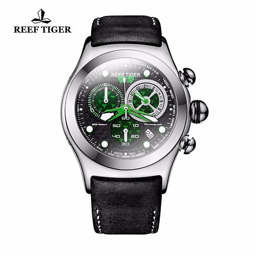 2020 New Reef Tiger/Rt Mens Military Watches Men's Skeleton 316L Steel