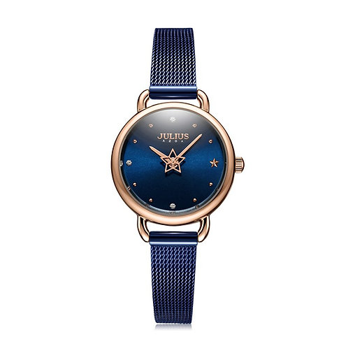 Rotating Star Second Hand Julius Small Women's Watch Japan Mov't Hours Fashion