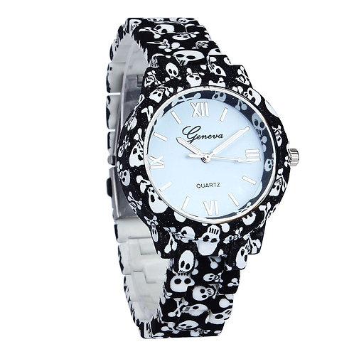 Halloween Watches Women Imitation Ceramic Quartz Print Watch Women Band Analog
