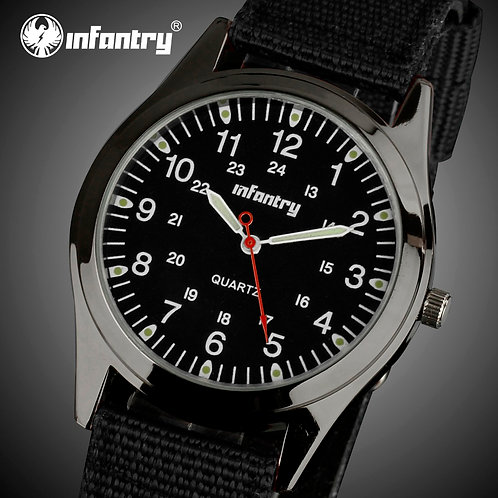 INFANTRY Mens Watches Top Brand Luxury Military Watch Men Ultra Thin Slim Army