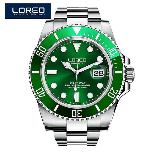 Relojes Hombre LOREO Watch Men Sport Automatic Mechanical Clock Mens Watch