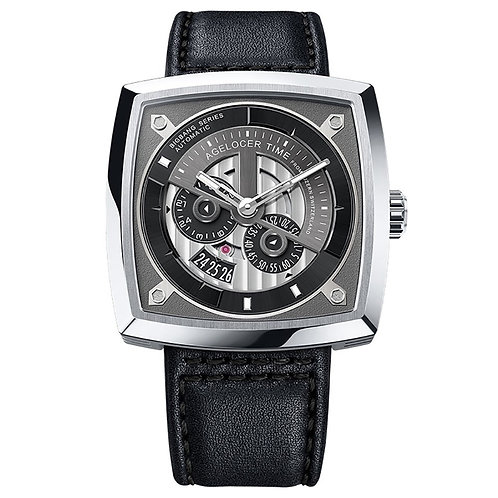 2019 Agelocer Top Brand Luxury Men Watch Fashion Automatic Watch Leather Strap