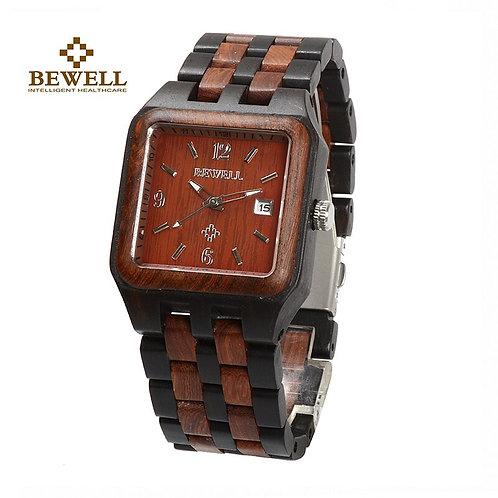 BEWELL Men's Watch Natural Wood Handmade Watch Brand Design Classic Style