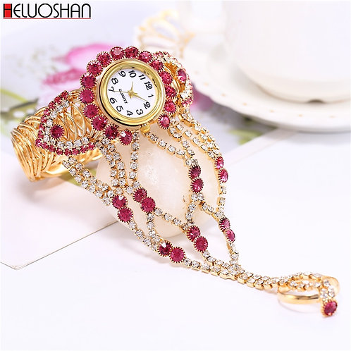 2020 Top Brand Luxury Clock Rhinestone Bracelet Watch Women Watches Ladies