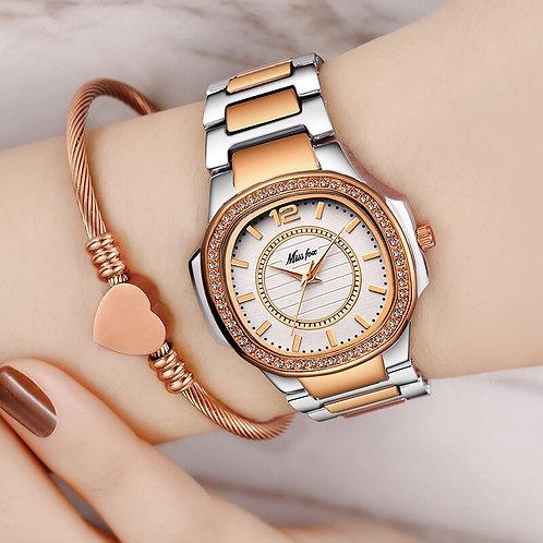 MISSFOX Best-Seller Watch Women Waches Uhr Rose Gold Fashion Casual Ladies