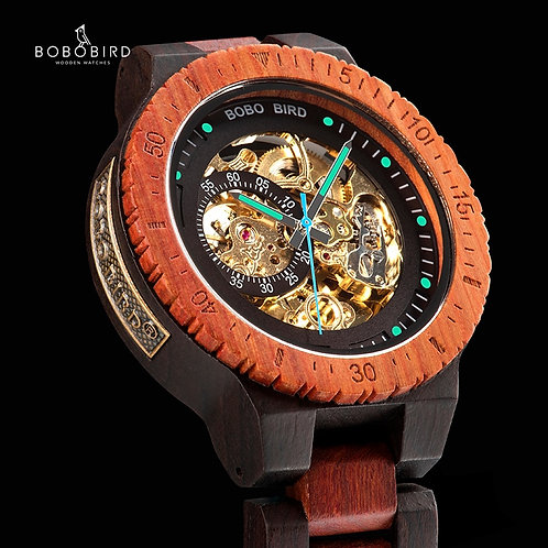 Relogio Masculino BOBO BIRD Mechanical Watch Men Wood Wristwatch