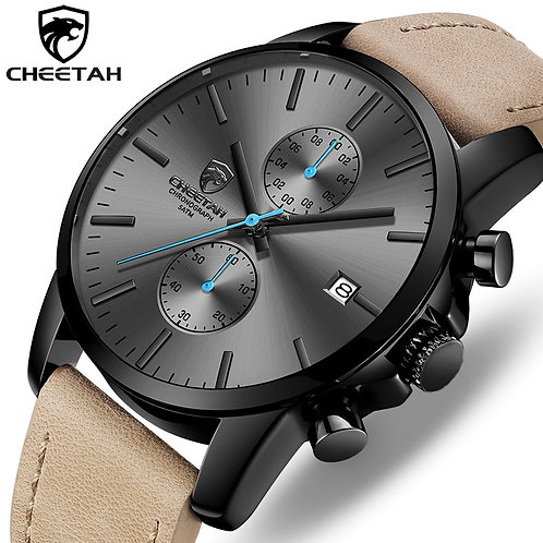 2019 Men Watch CHEETAH Brand Fashion Sports Quartz Watches Mens Leather