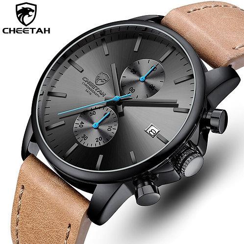 CHEETAH New Watches for Men Chronograph Sport Men's Watch Leather Quartz